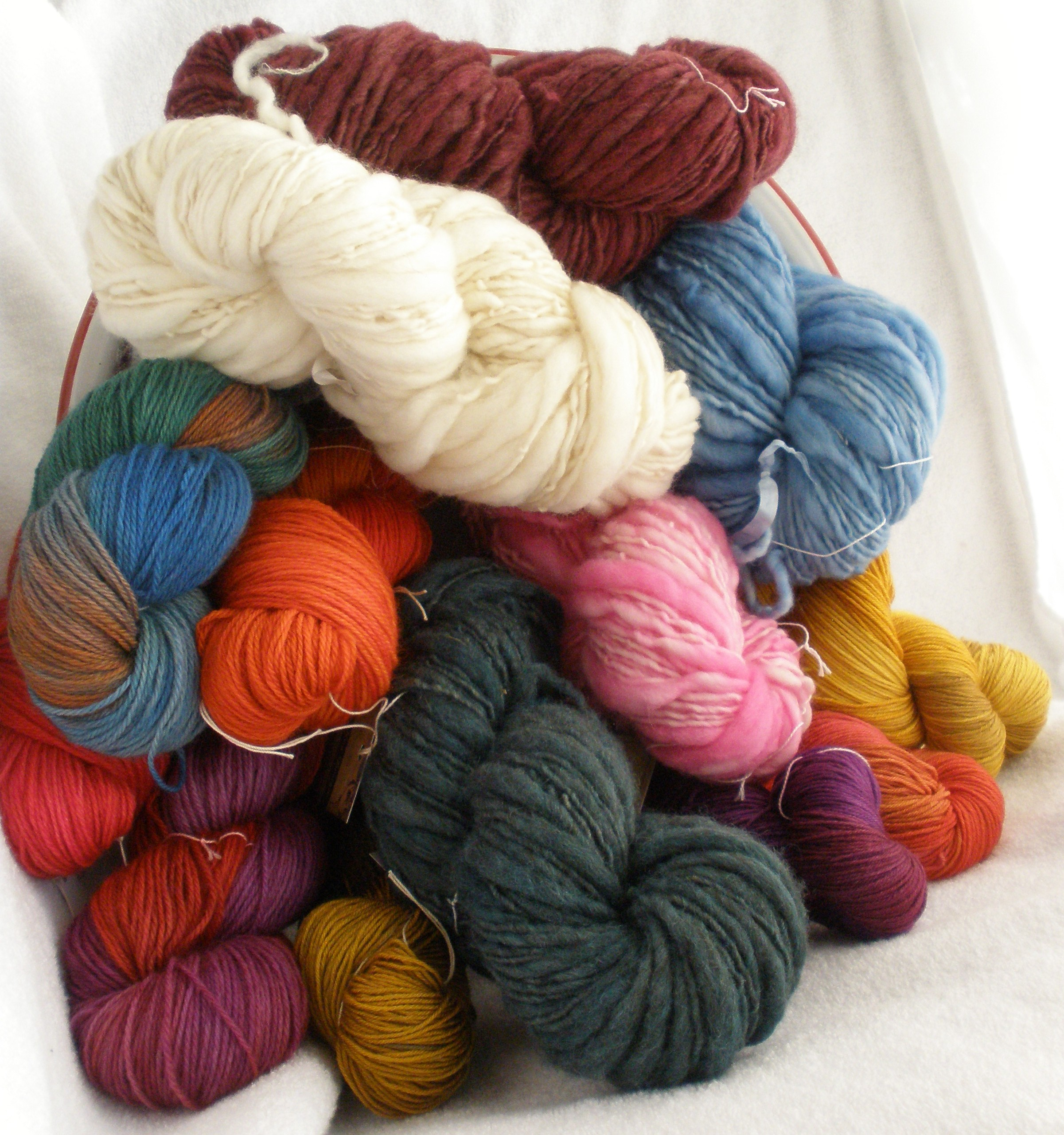 handspun and / or hand dyed yarn