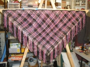 edges finished, ready to come off the loom
